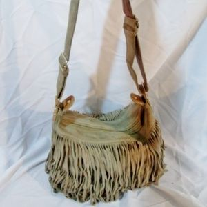 GAP Suede Fringe hobo shoulder bag purse